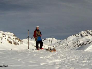 Luis Goñi descansando Snowpark